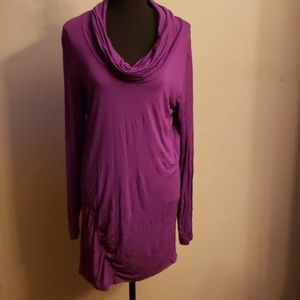 Bodycon cowl neck tunic top